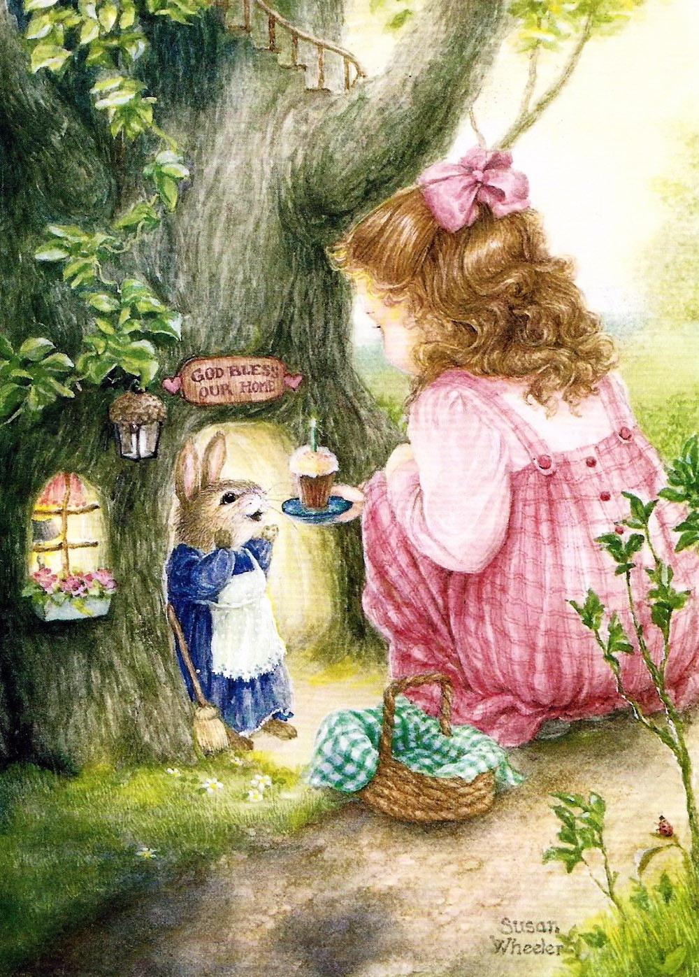 Сказочные открытки для девочки