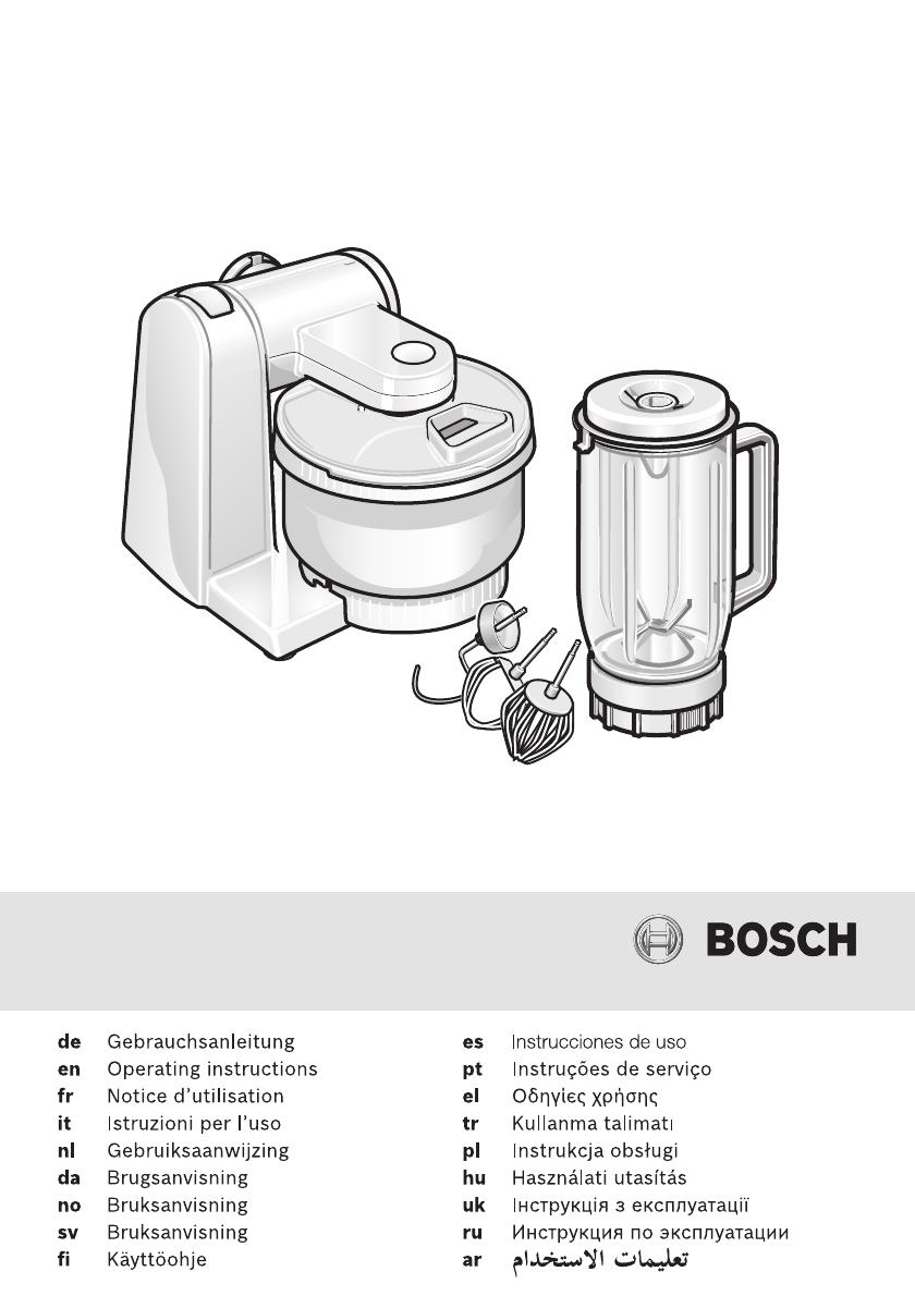 Bosch Profimixx 46 Electronic инструкция кухонный комбайн