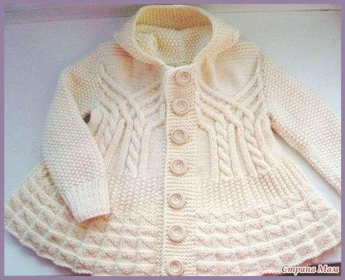 пальто для девочки вязание спицами детские образцы постила