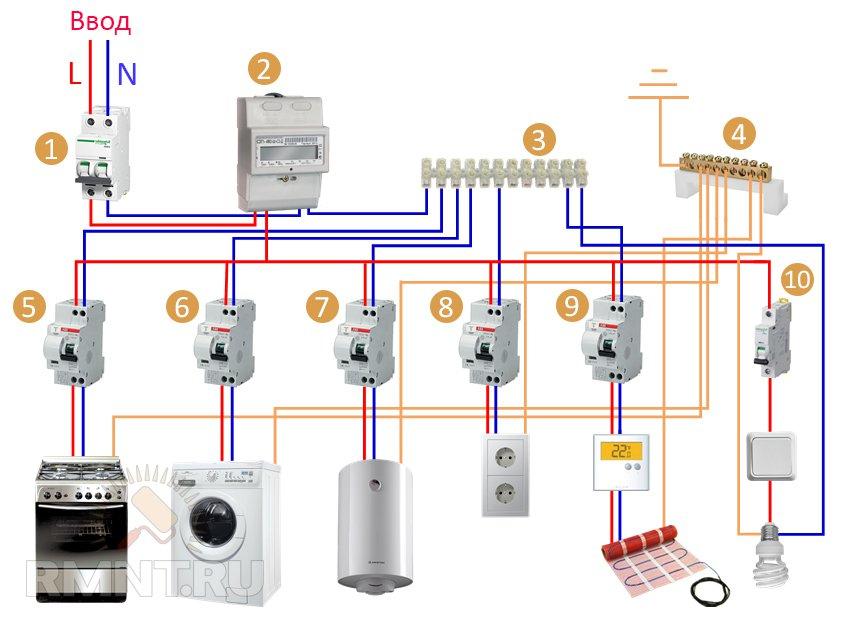 Схема подключения электричества в квартире 104