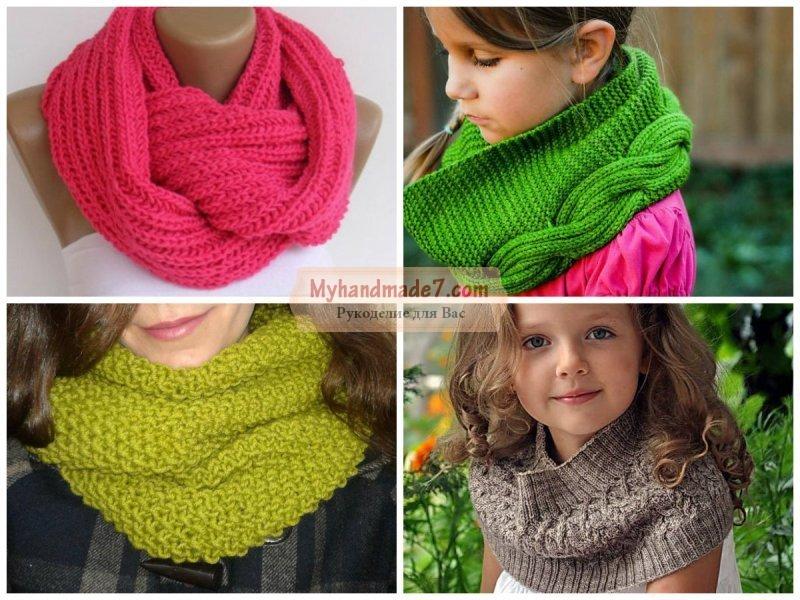 вязание спицами для детей шарф снуд