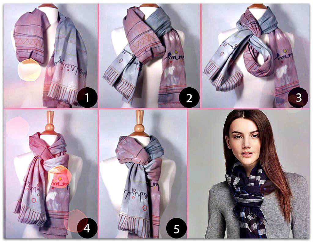 все эти как завязать шарф под куртку фото циливи