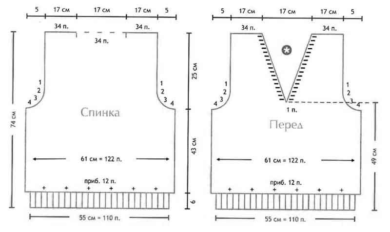 мужская схемы вязанная безрукавка