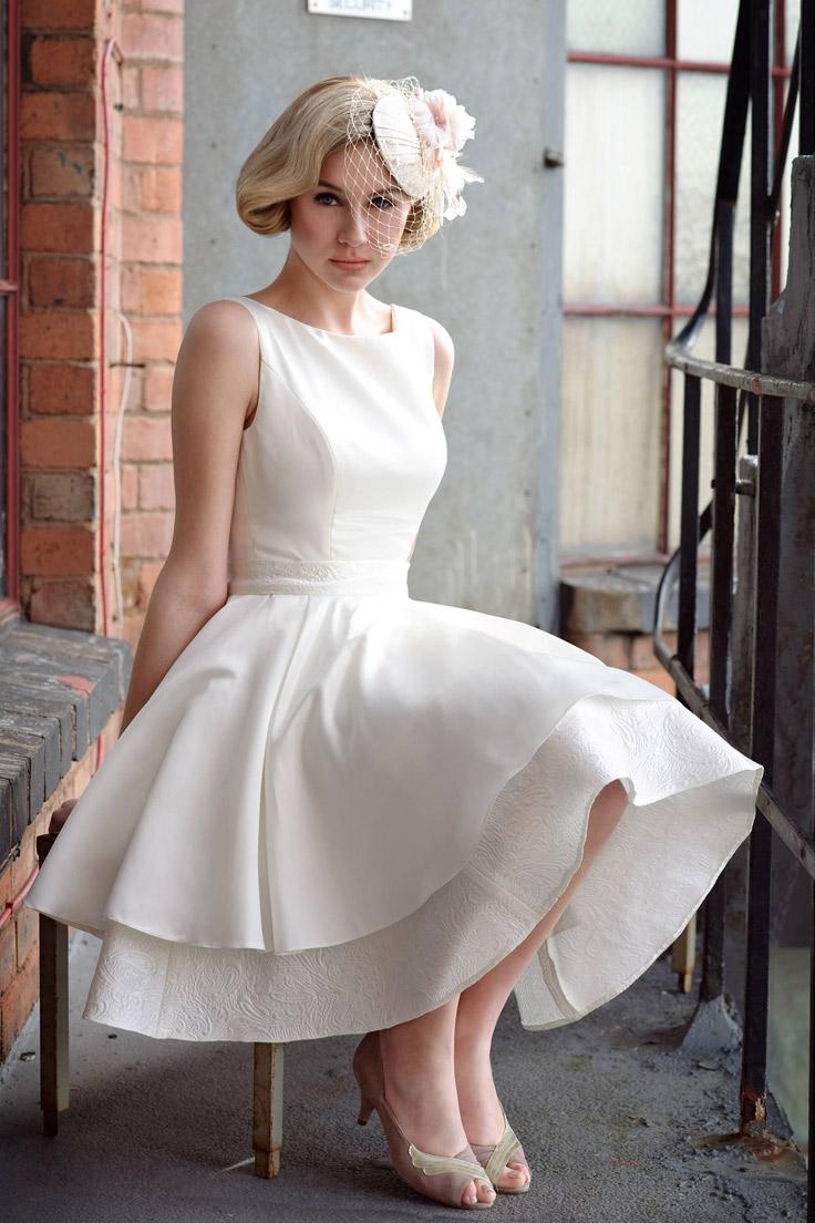 может существовать свадебные платья в стиле ретро фото такими