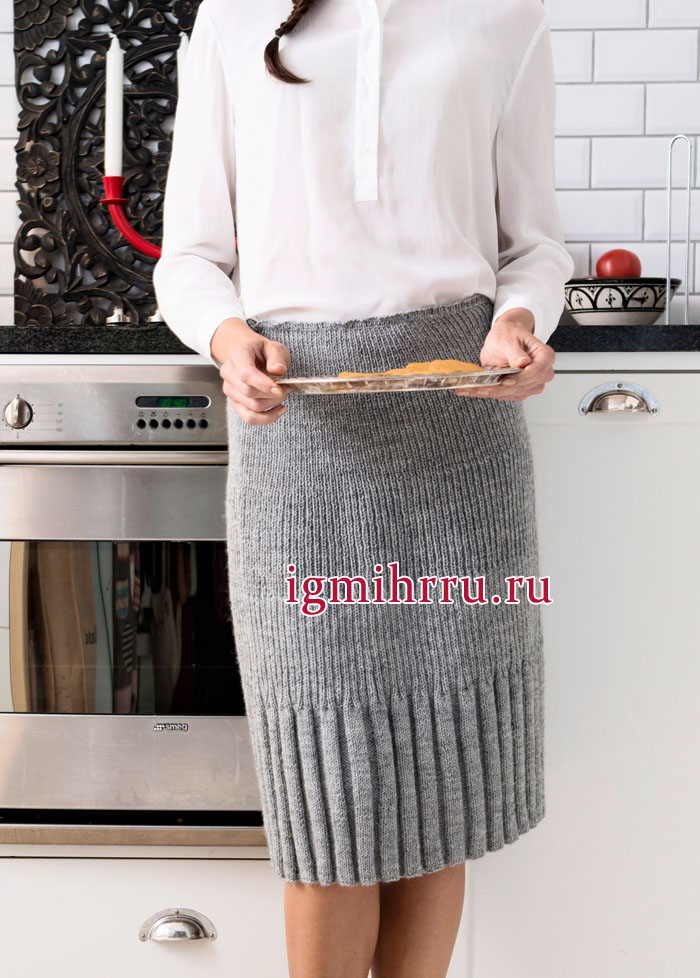 вязаные спицами юбки фото