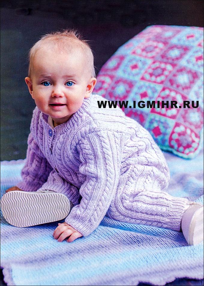 сиреневый комбинезон с косами для малыша в возрасте от 1 до 12