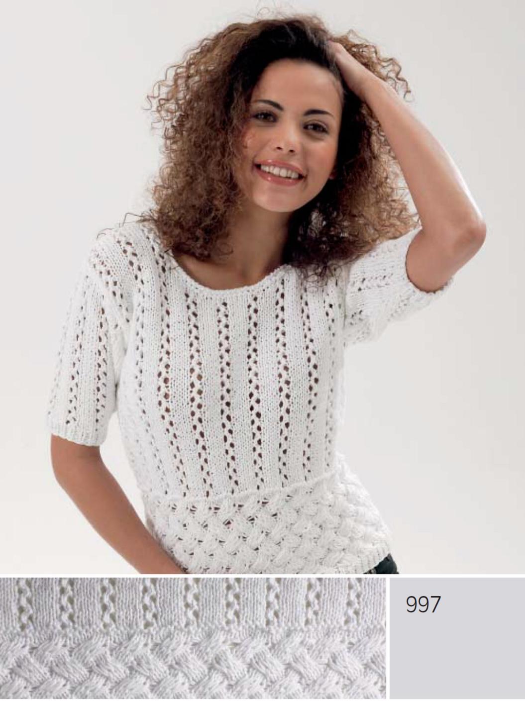 Пуловер спицами с короткими руками Самые красивые узоры спицами