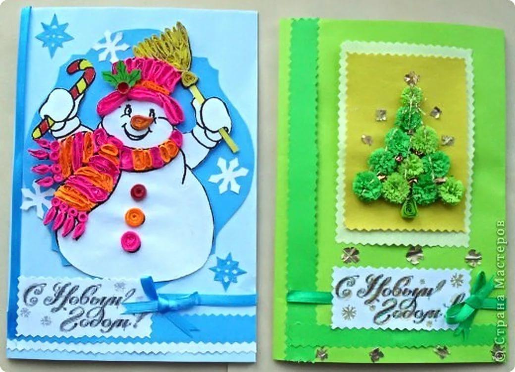 Как сделать открытку новогоднюю формат а4