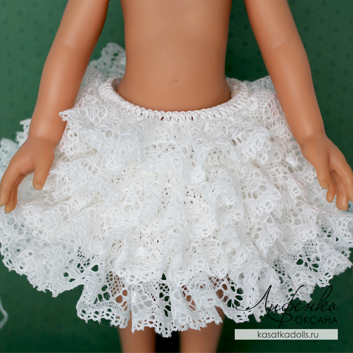 вязание с кружевом вяжем кружевное платье для кукол At оксана