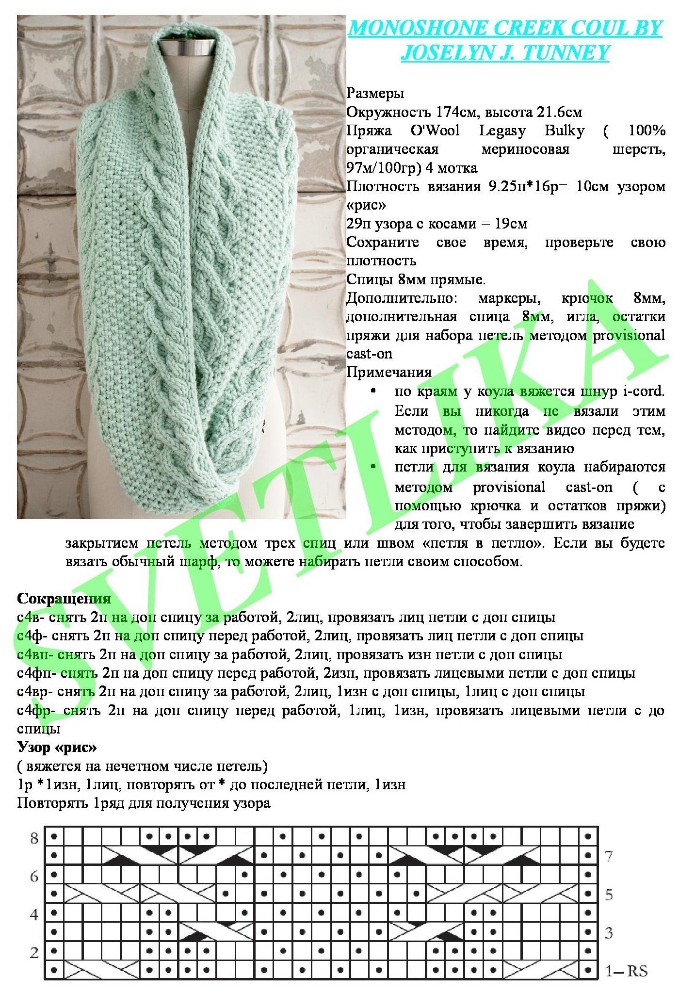 связать красивый шарф спицами схема и фото территории отеля