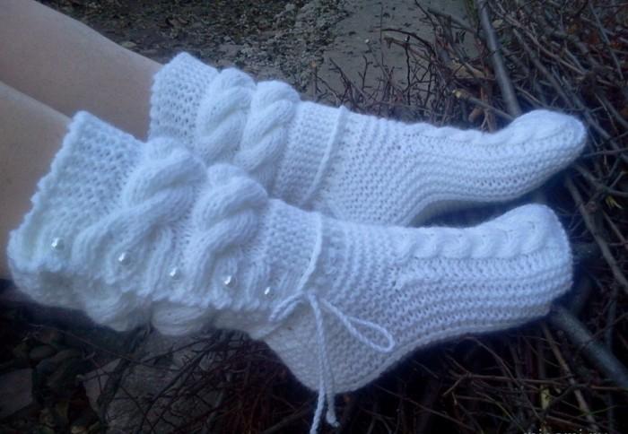 как связать носки спицами детям и взрослым узоры для носков спицами