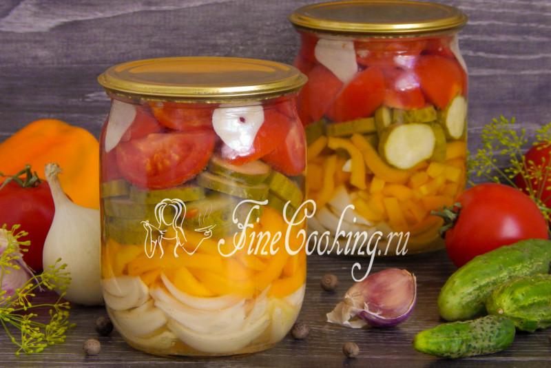 рецепты салатов из огурцов на зиму рецепты с фото
