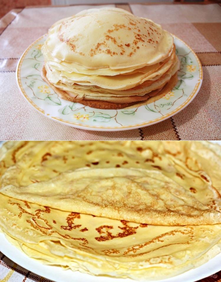 блины тесто пошаговый рецепт с фото основе