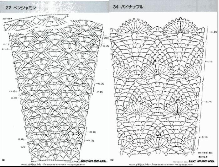 ad24de1ac45 Схемы для расширения полотна и вязания юбок крючком · zoom in