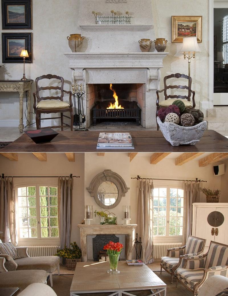 правильно гостиная в стиле прованс с камином фото необычные