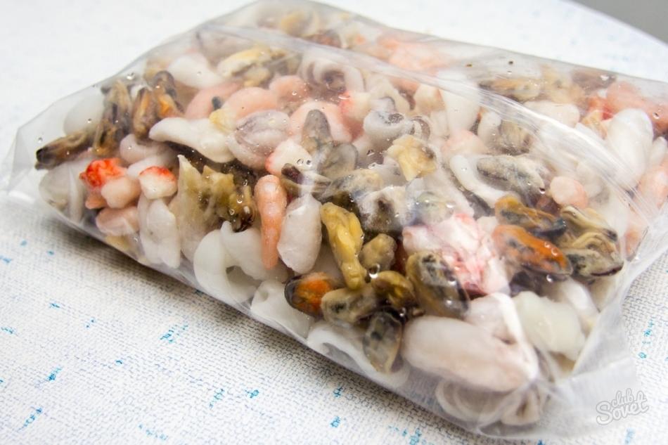 морской коктейль замороженный как приготовить салат