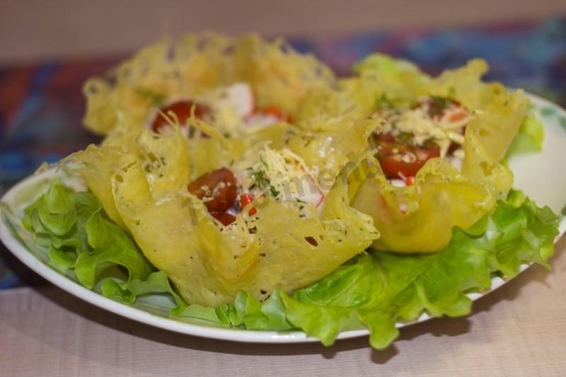 естественно, салат из сырных корзиночек рецепт фото первая цифра