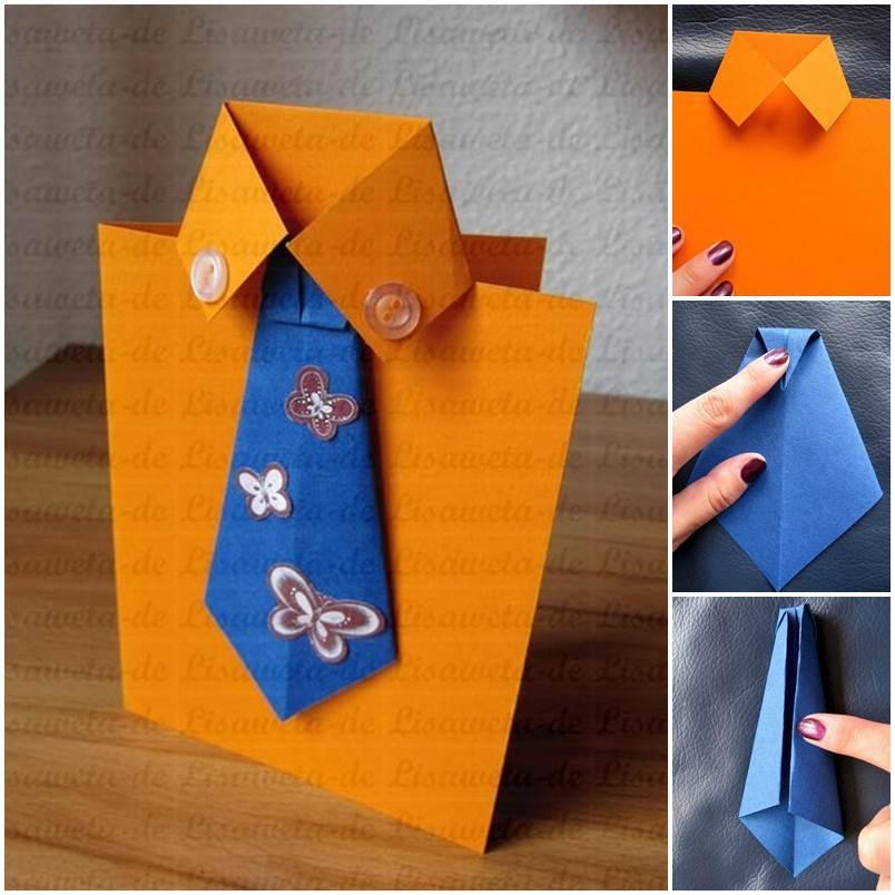 Как сделать открытку рубашку с галстуком с днем рождения, картинку