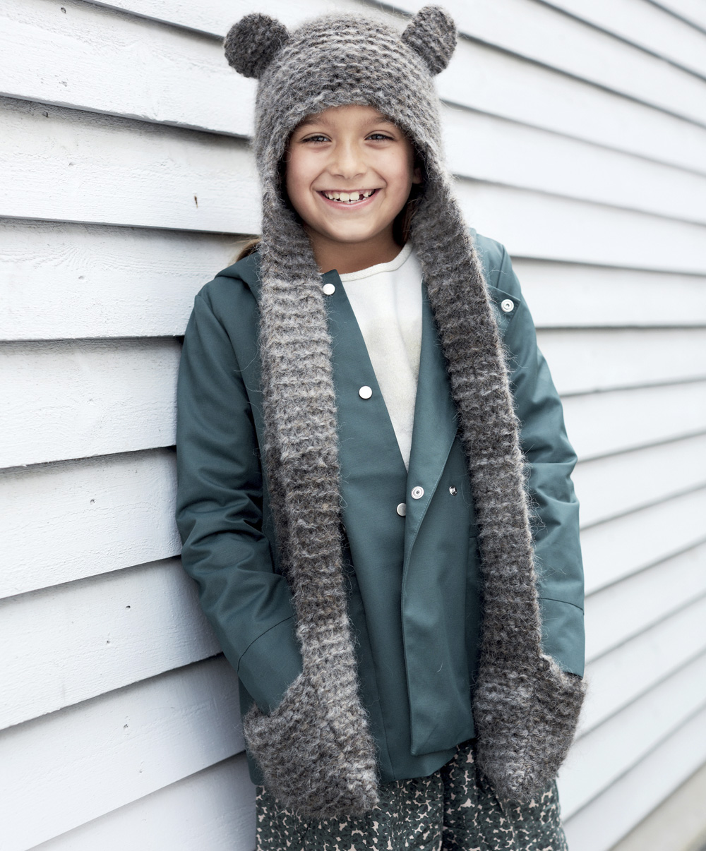Шапка-шарф с ушками