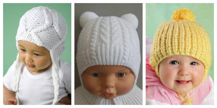 вязаные шапочки для новорожденных спицами с описанием и видео