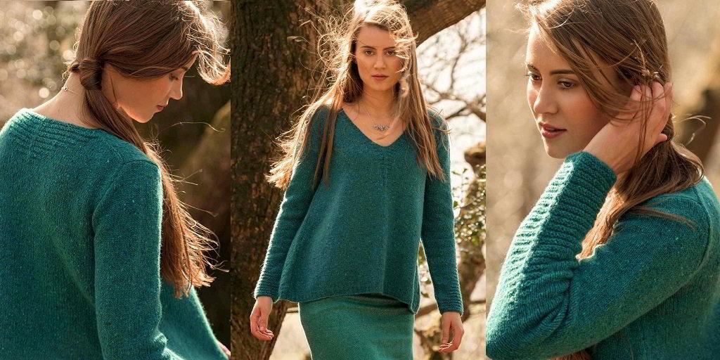 efa62f5bdaf0 Пуловер трапеция Rathbone Вязаный спицами пуловер трапеция из ...