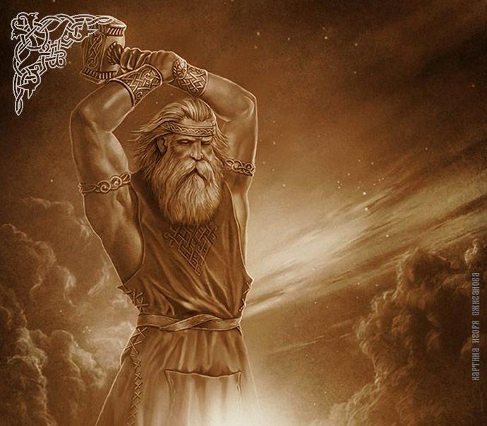 бог славян сварог картинки