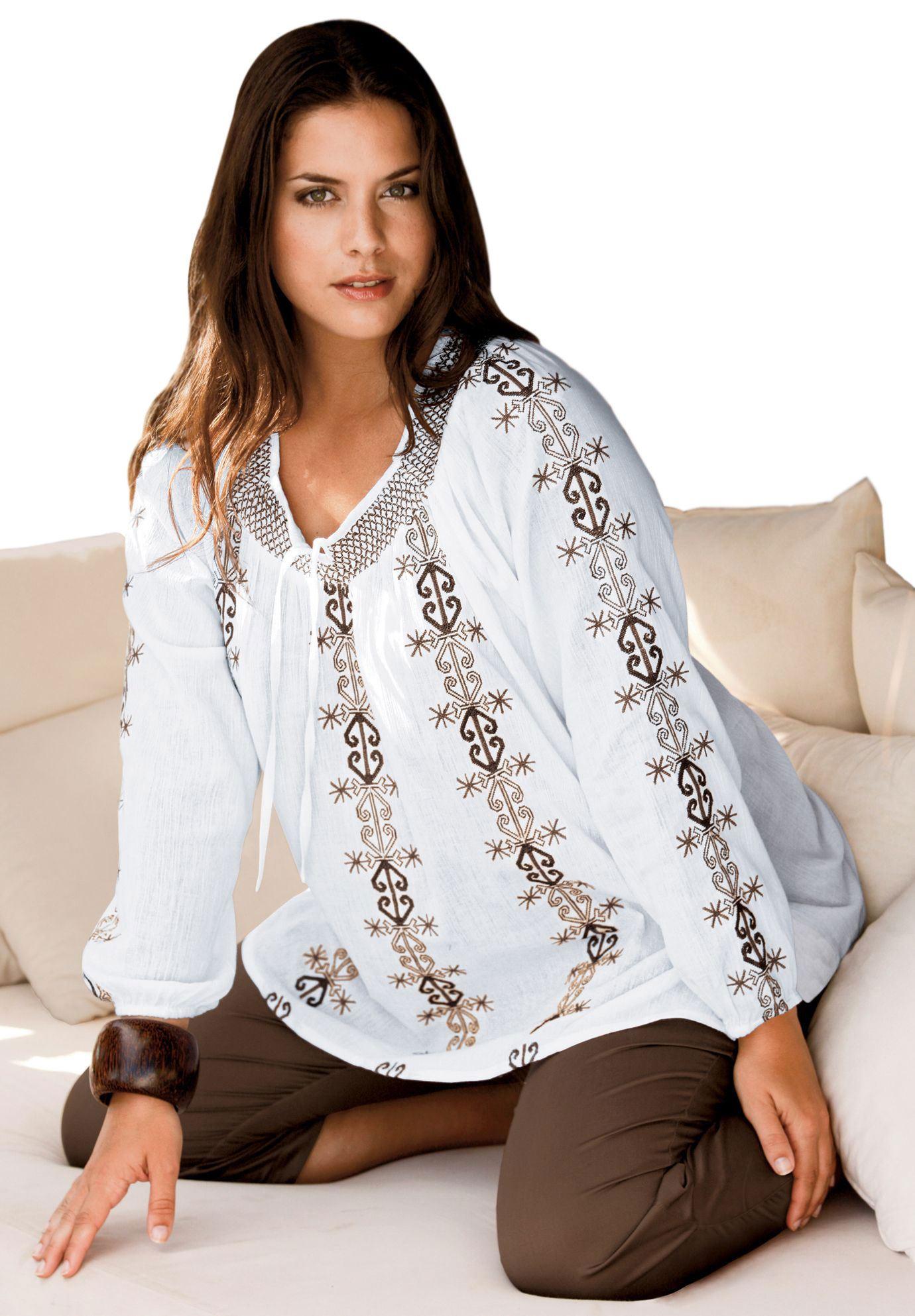 Блузки для полных женщин которые их стройнят выкройка фото 654