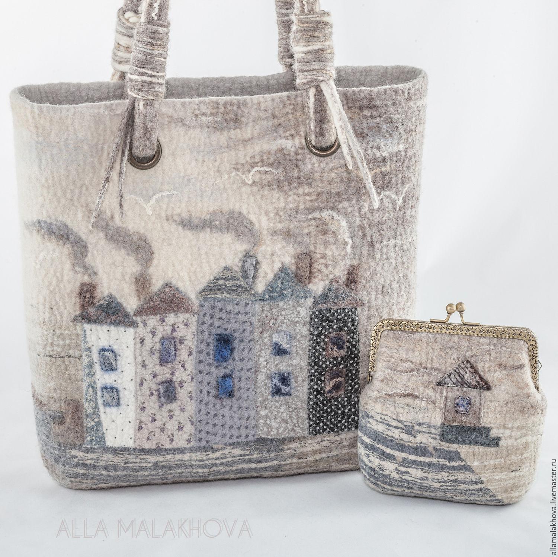 884457fd8fe0 Купить Валяная сумка Войлочная Пуговка - белый, сумка, валяная сумка ...