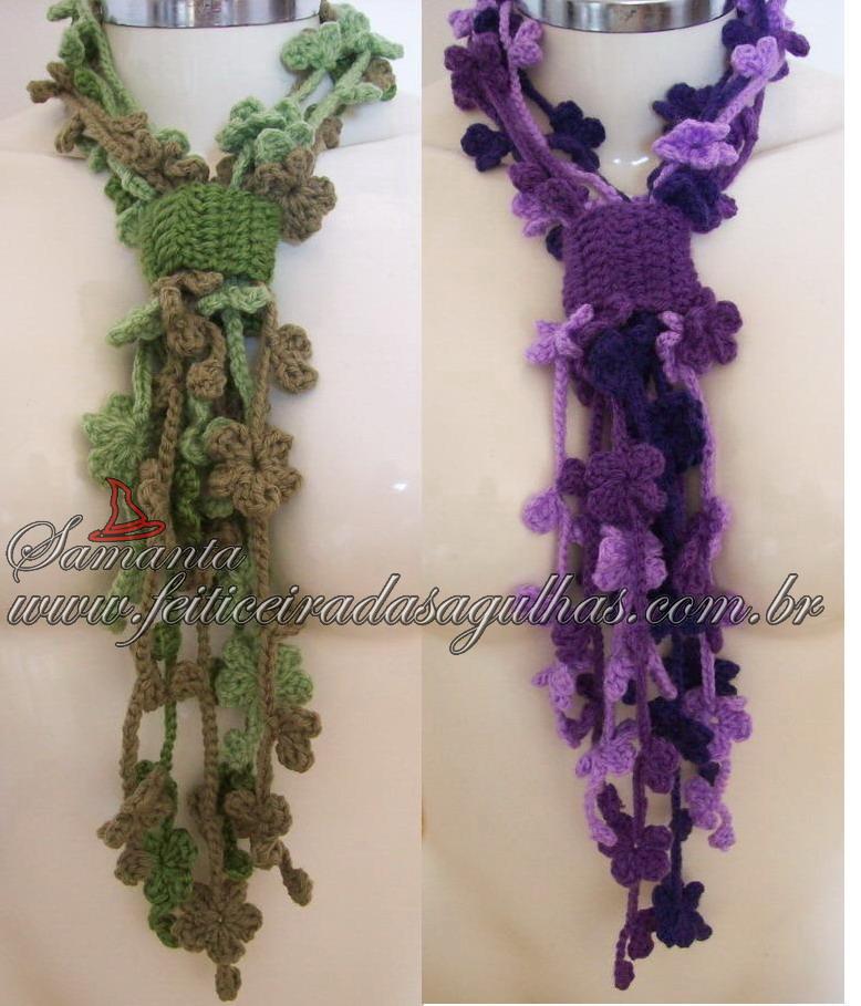 вязание крючком шарф схема женские советы как похудеть как