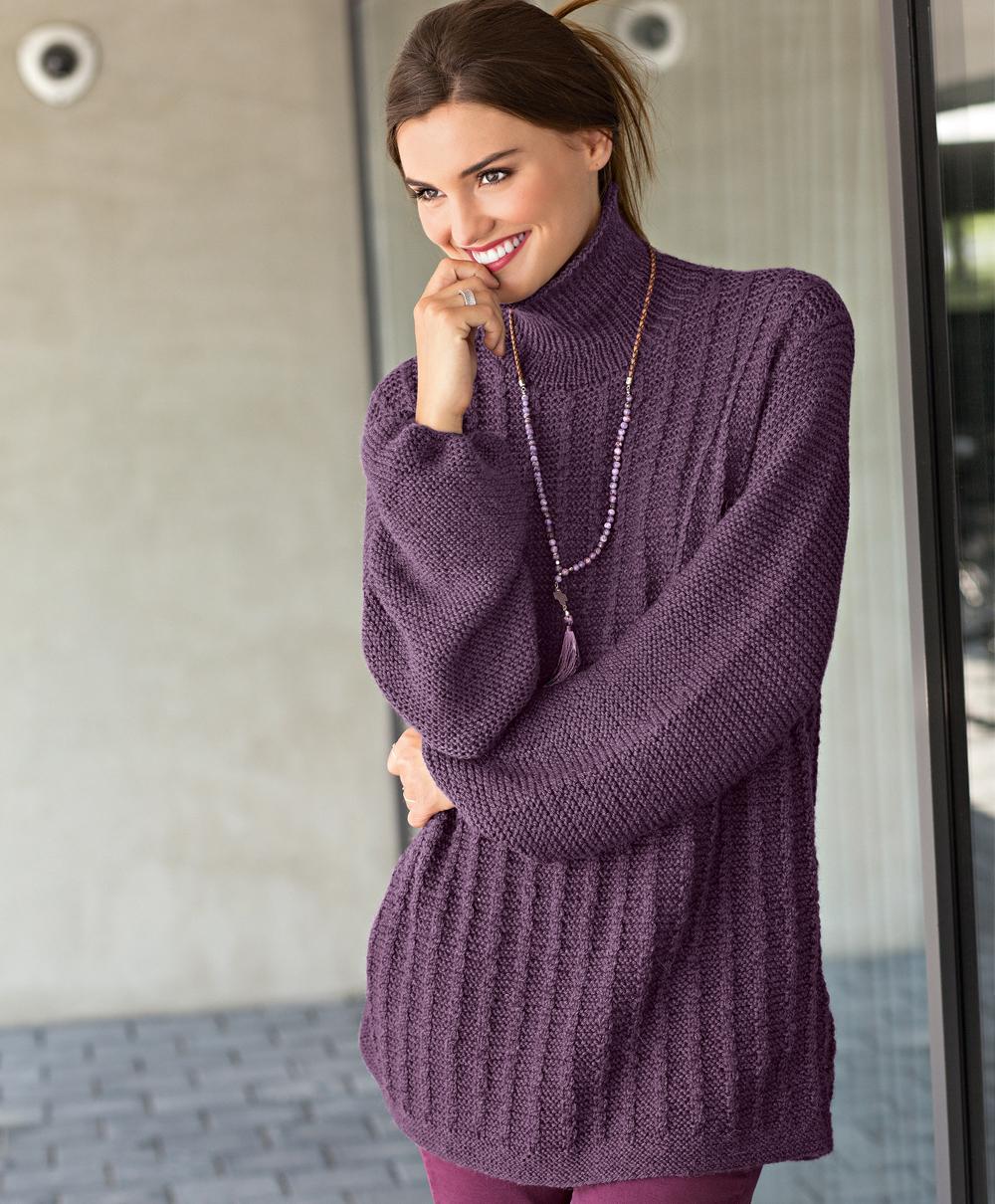 Вязание свитера спицами с описанием и схемой. Модель 2018-2019 года