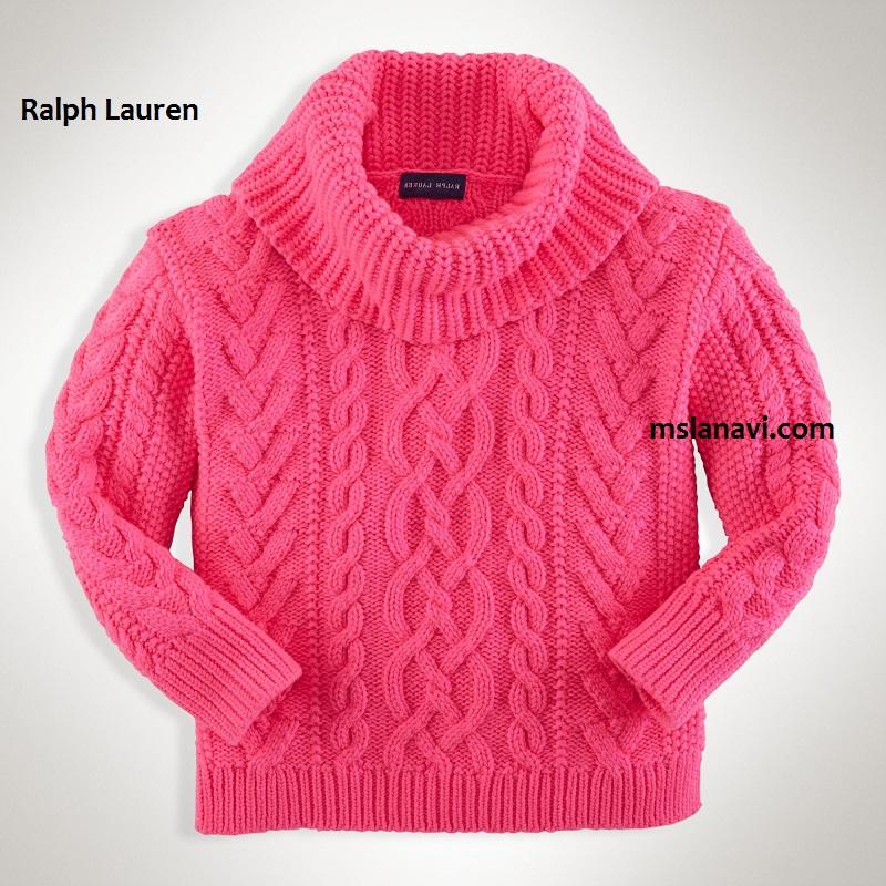 Голубой Пуловер С Аранами
