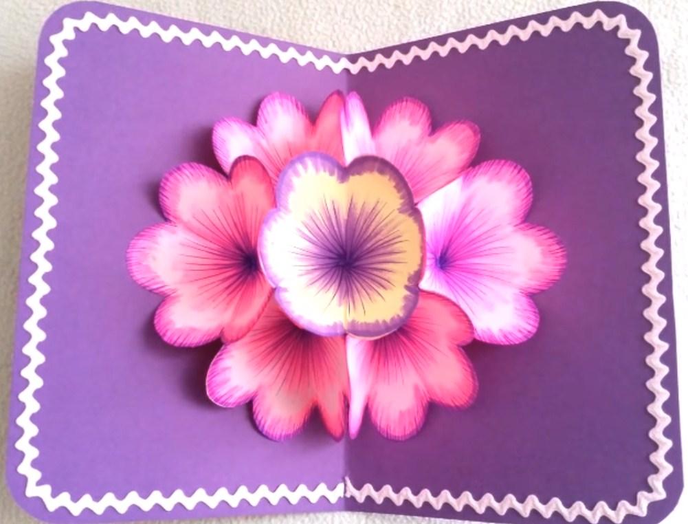 Цветок для открытки с 8 марта своими руками
