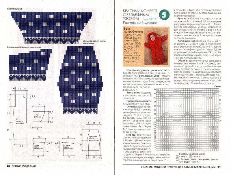 Описание и схемы вязания для грудничков 31