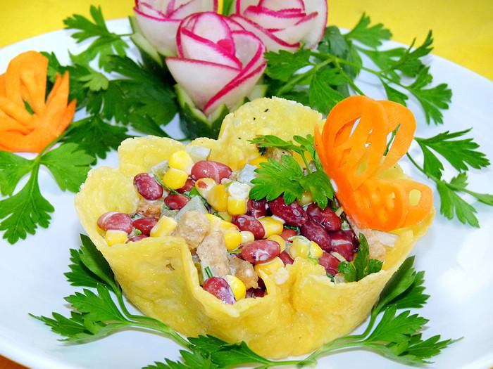 это салаты в корзиночках рецепты с фото украшение для вашего