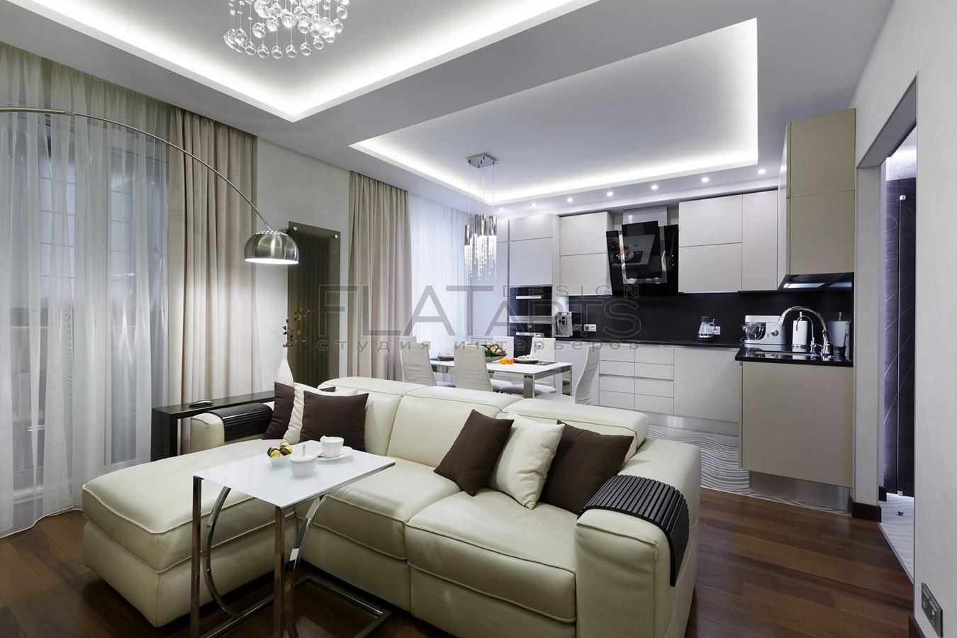 кухня совмещенная с гостиной 25 кв м дизайн фото
