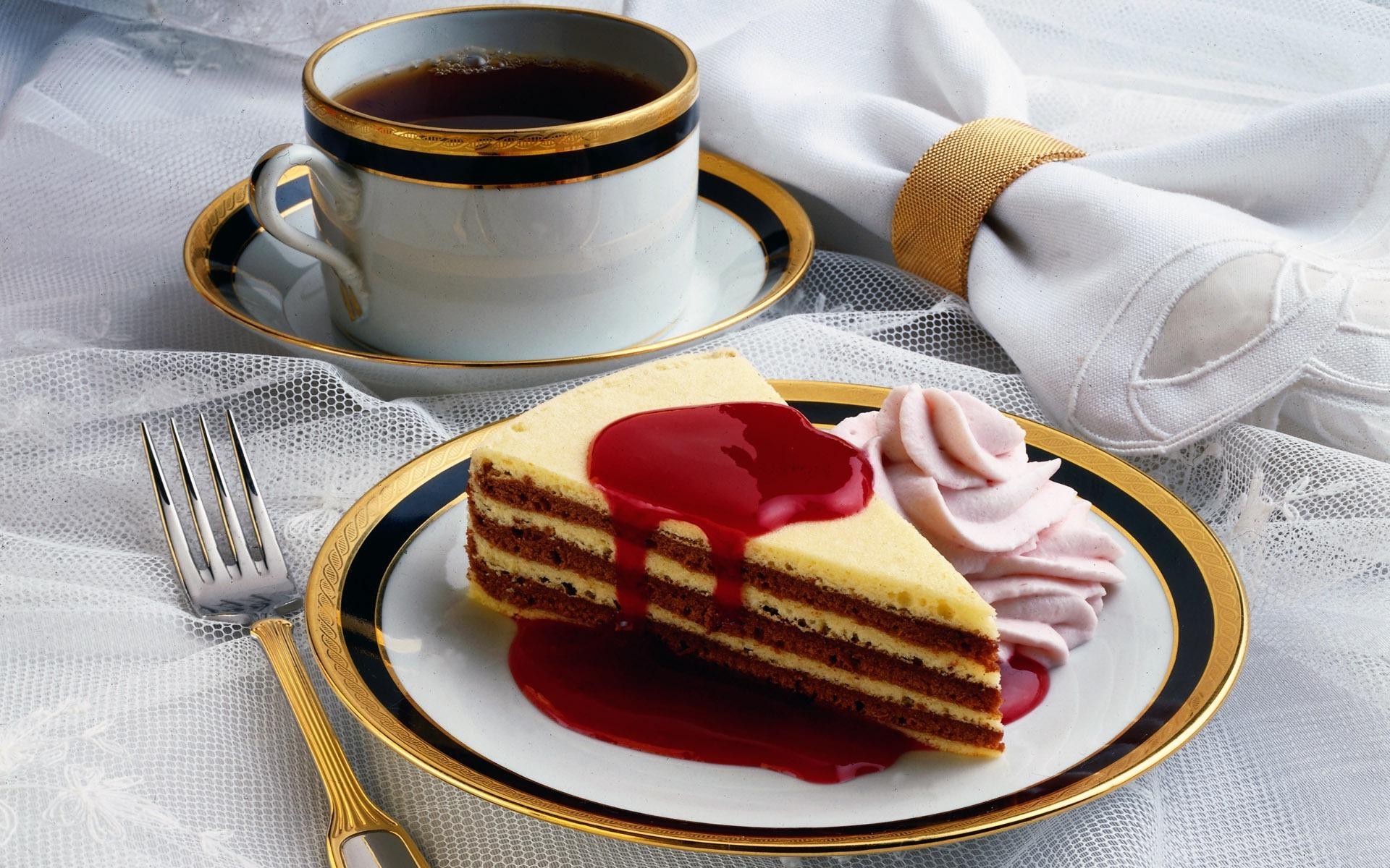 Гиф тортик и кофе