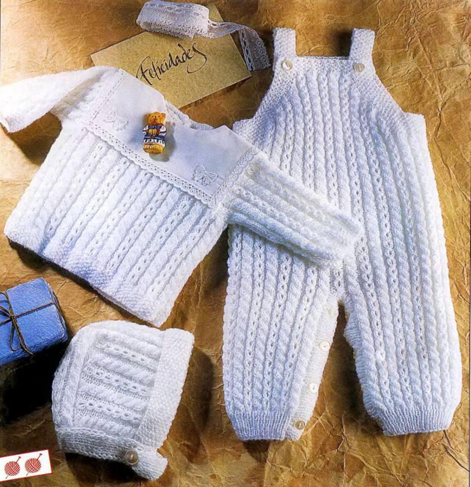 детские костюмчики для новорожденных мальчиков и девочек спицами сх