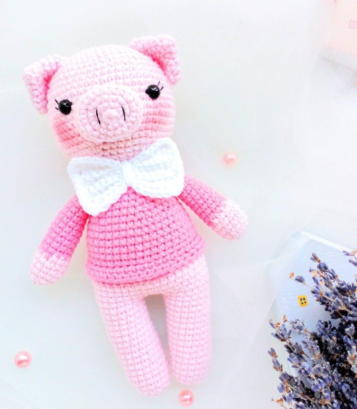 Вязание крючком.медвежонка