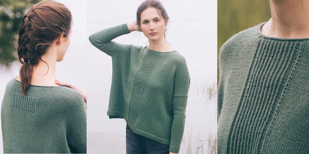 6610408e8ce6 Свободный пуловер Dalton Свободный пуловер с удлинённой спинкой ...