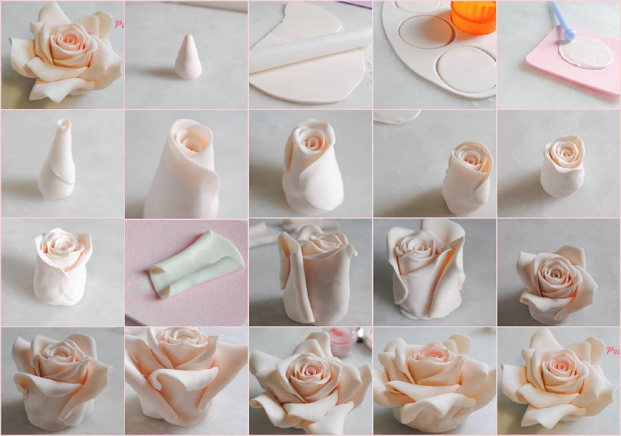 Цветы из мастики на торт пошагово фото