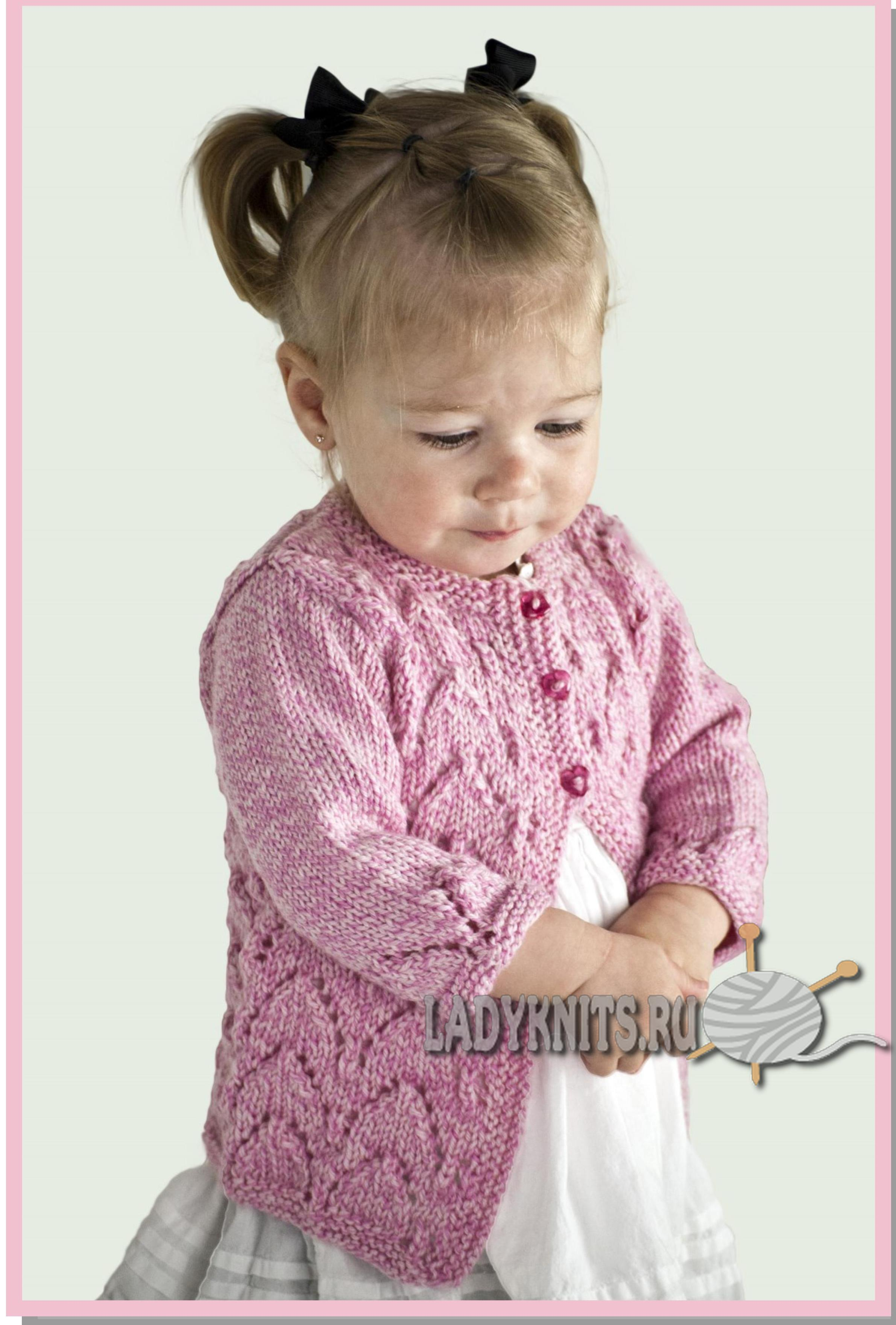 Вязаный жилет для девочки крючком и спицами