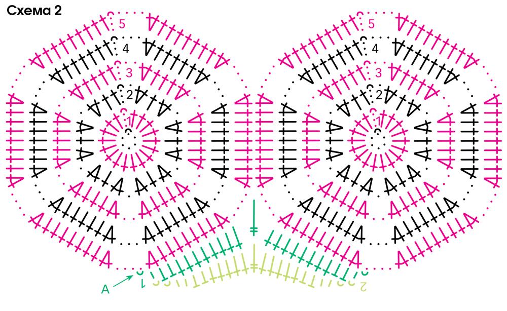 джемпер из ажурных шестиугольников схема вязания крючком вяжем