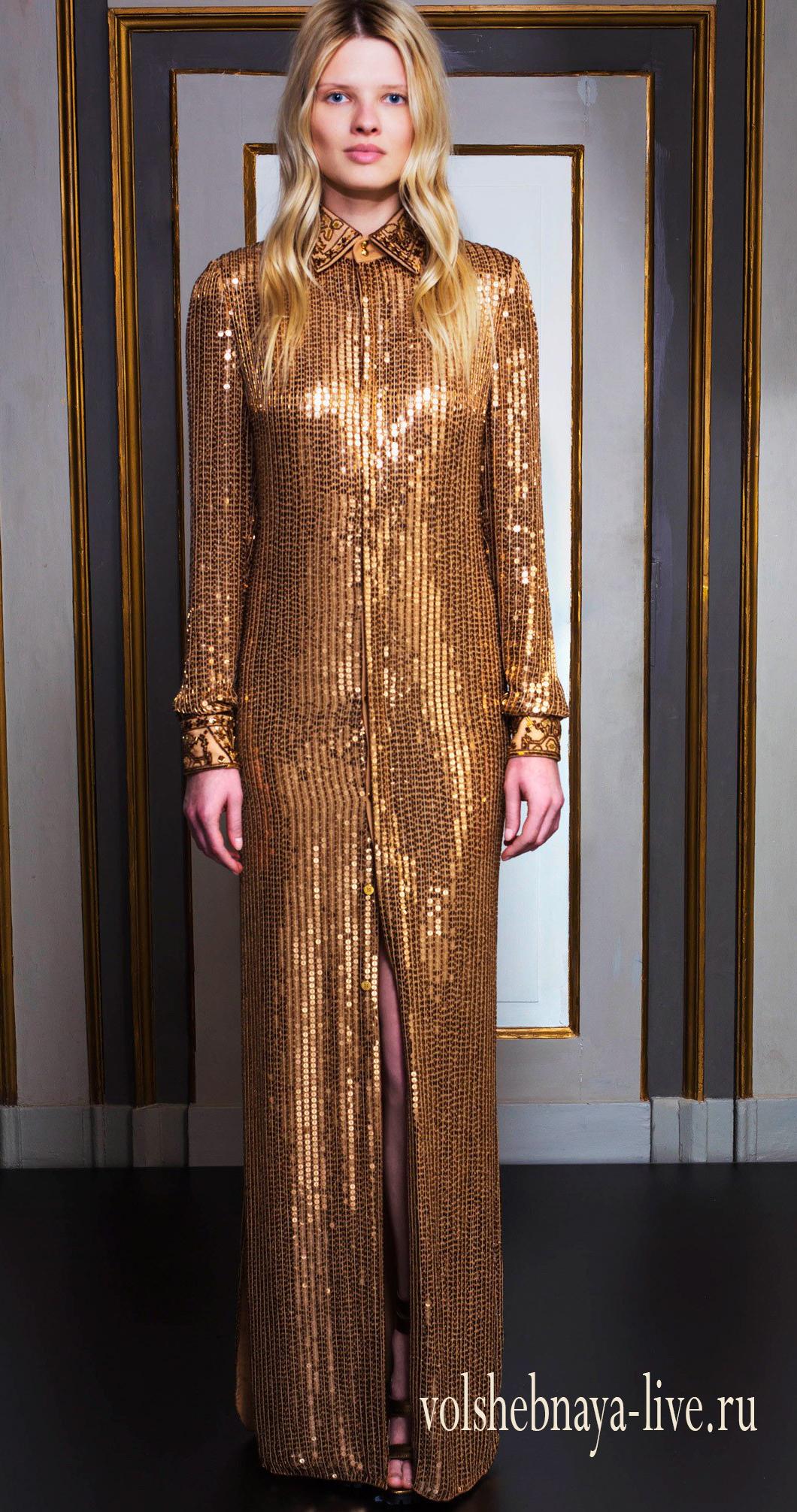 d0123656131 Длинное золотое платье в пайетках. Обзор с фото. - volshebnaya-live ...