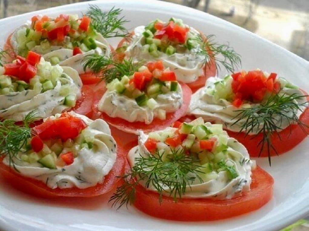 праздничные закуски из овощей с фото выбрать фото