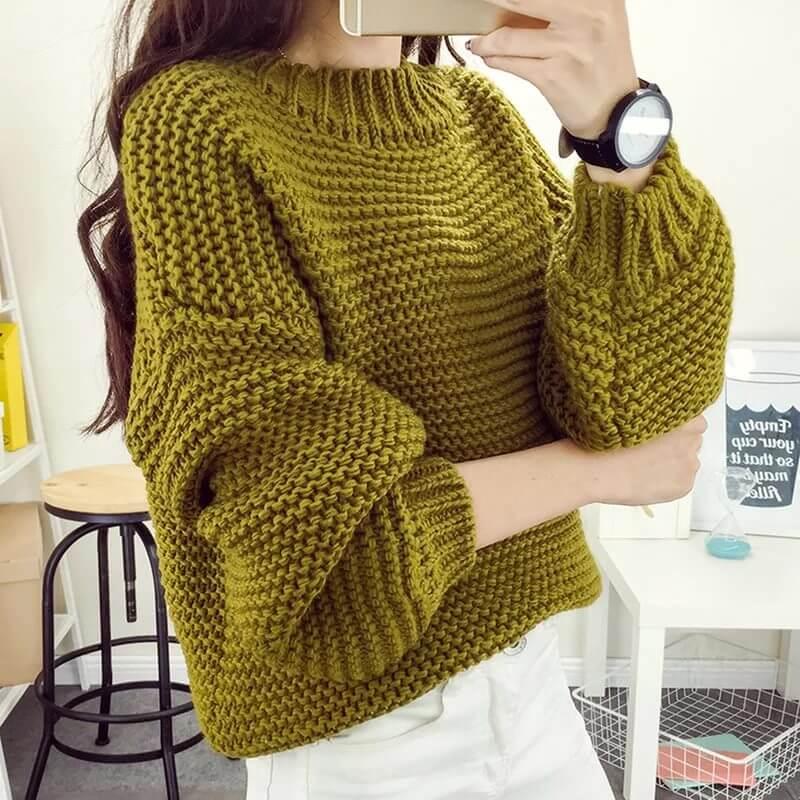 как связать женский свитер спицами для начинающих пошагово вязание
