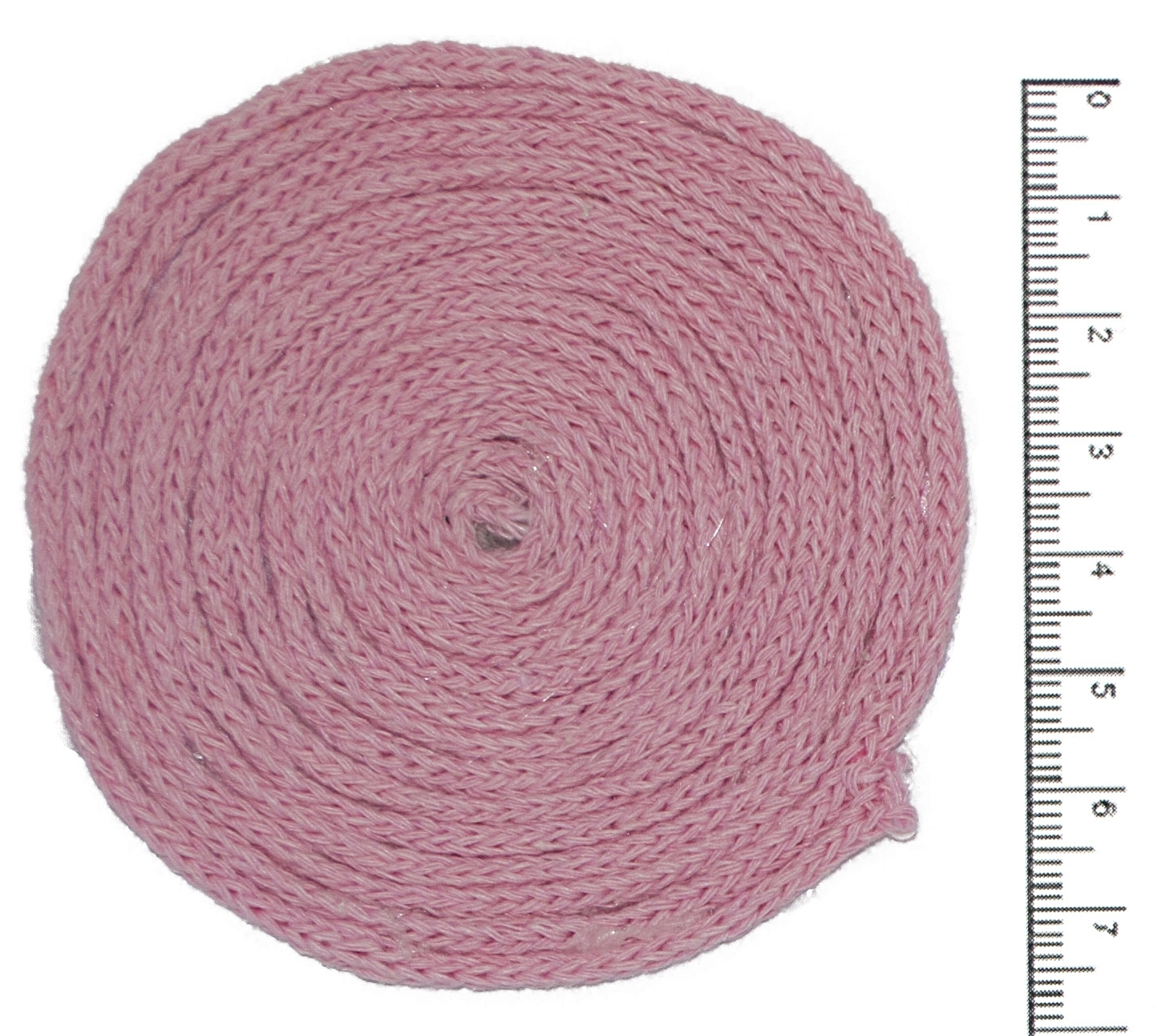 шнур 2 мм хлопковый розовый для вязания ковров бижу постила