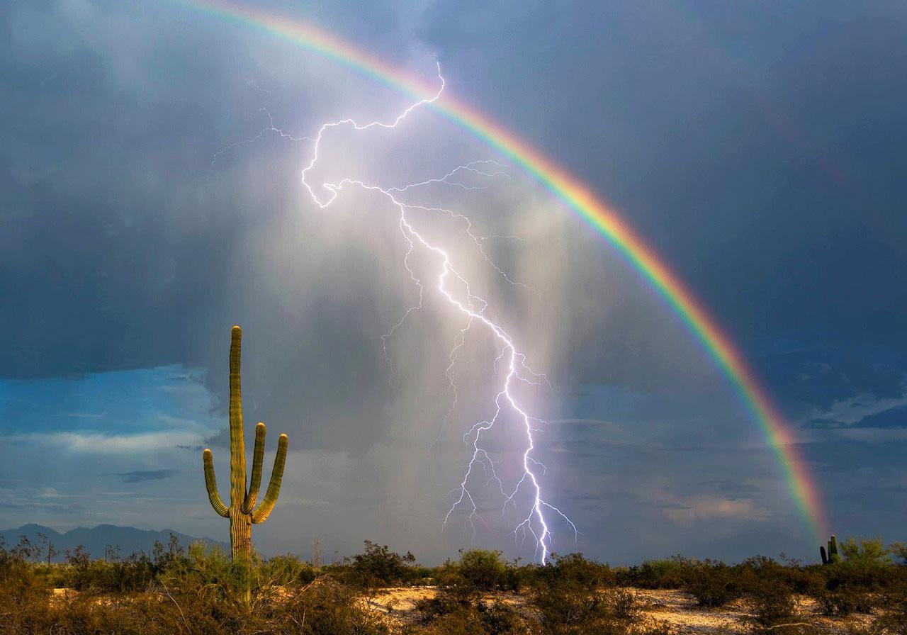 самые необычно красивые фото радуги лучей