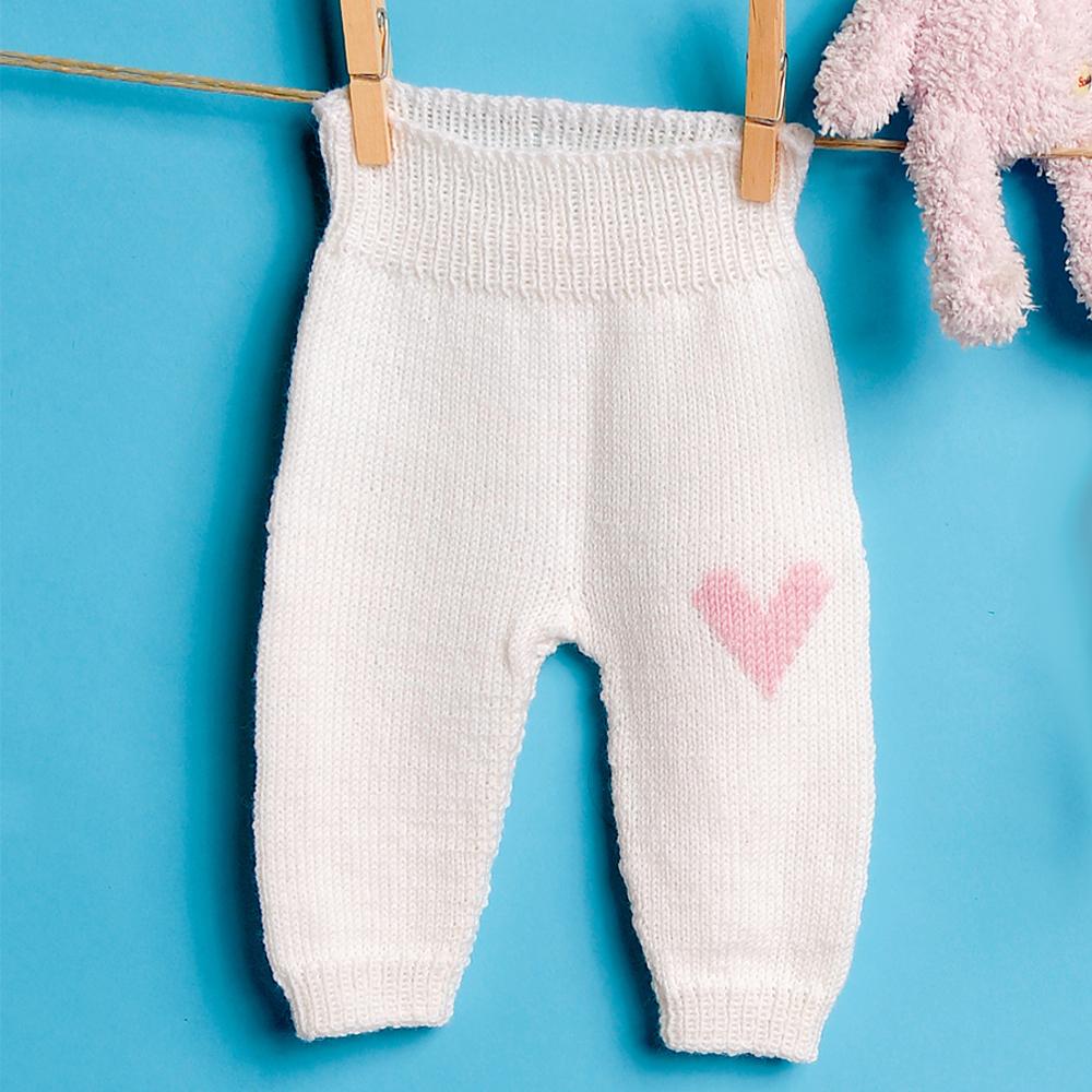 детские штанишки с вышивкой сердечко схема вязания спицами