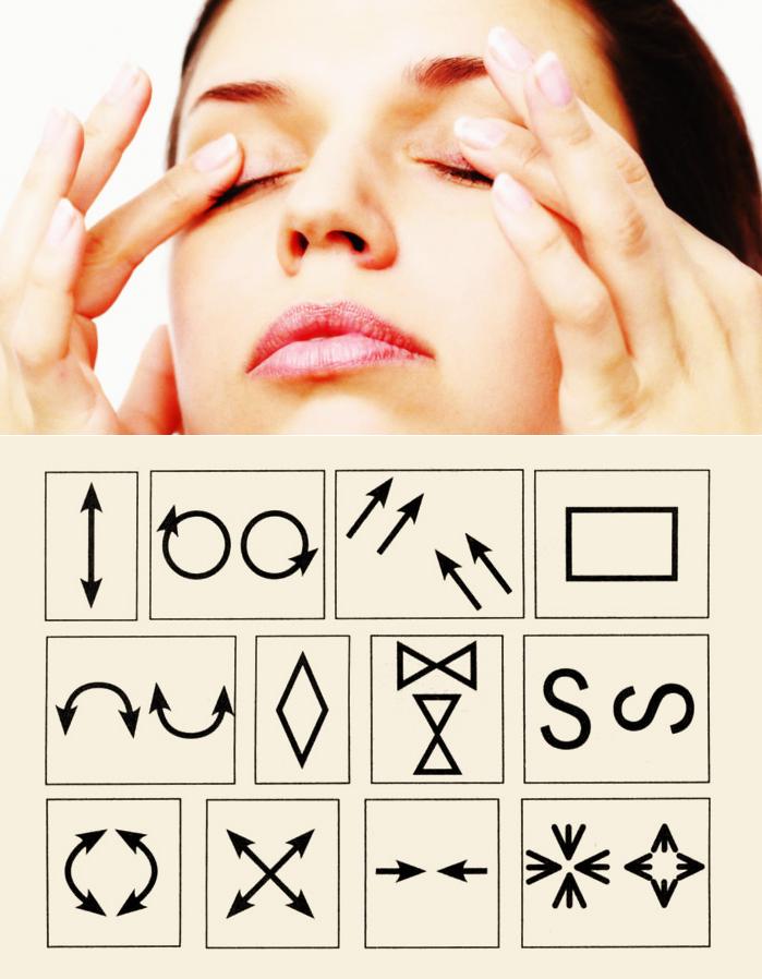 Гимнастика для глаз норбекова картинки