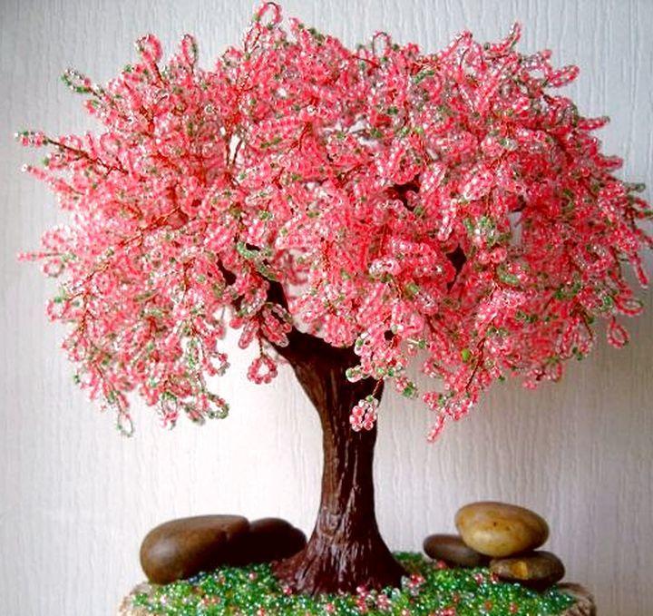 красивые большие деревья из бисера фото эти средства